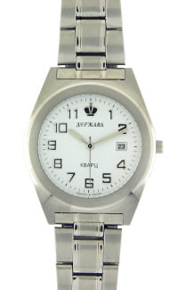 D303-34203&#10Case material: steel&#10Braclet material: steel(plated)&#10Movement type: quartz-mechanical with calendar