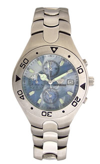 D309-74303&#10Case material: with turning ring, steel-steel&#10Braclet material: steel(plated)&#10Movement type: quartz-mechanical chronograph