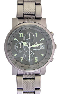 D311-34305&#10Case material: steel&#10Braclet material: steel(plated)&#10Movement type: quartz-mechanical chronograph